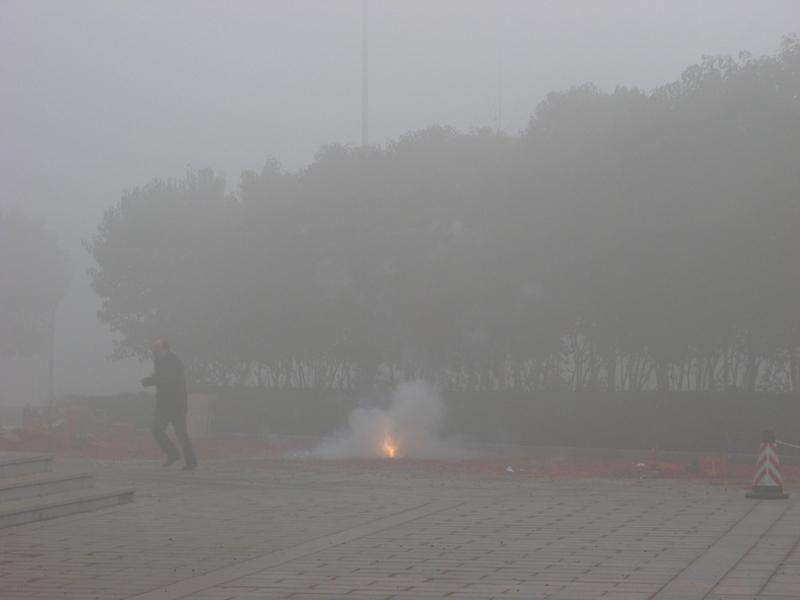 PM2.5危及市民健康。圖為2016年2月10日西安高新區的空氣狀況。(大紀元資料室)
