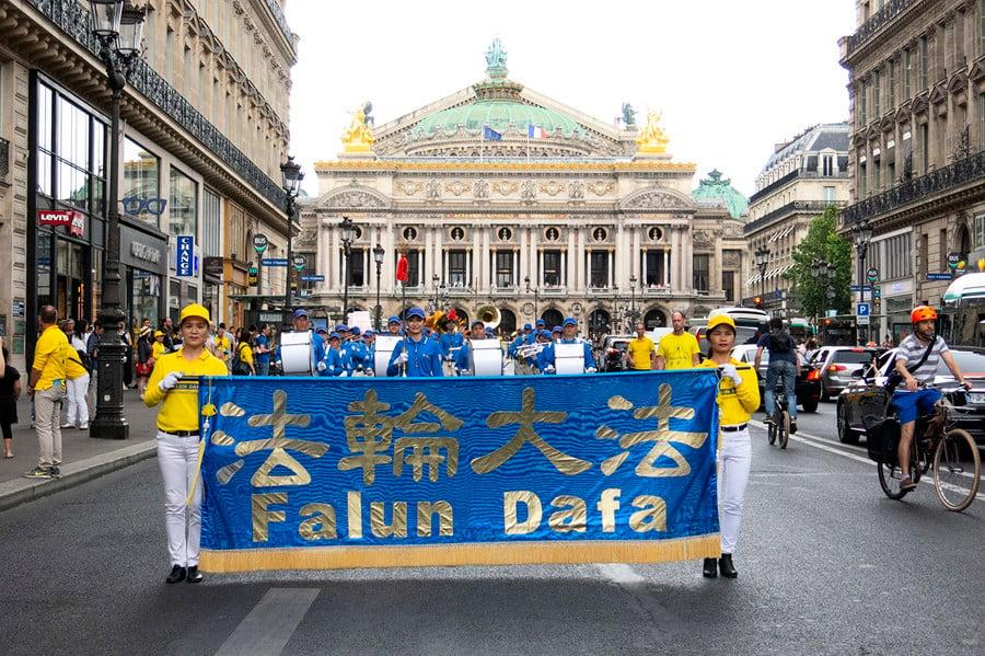 歐洲法輪功學員巴黎反迫害大遊行 政要支持