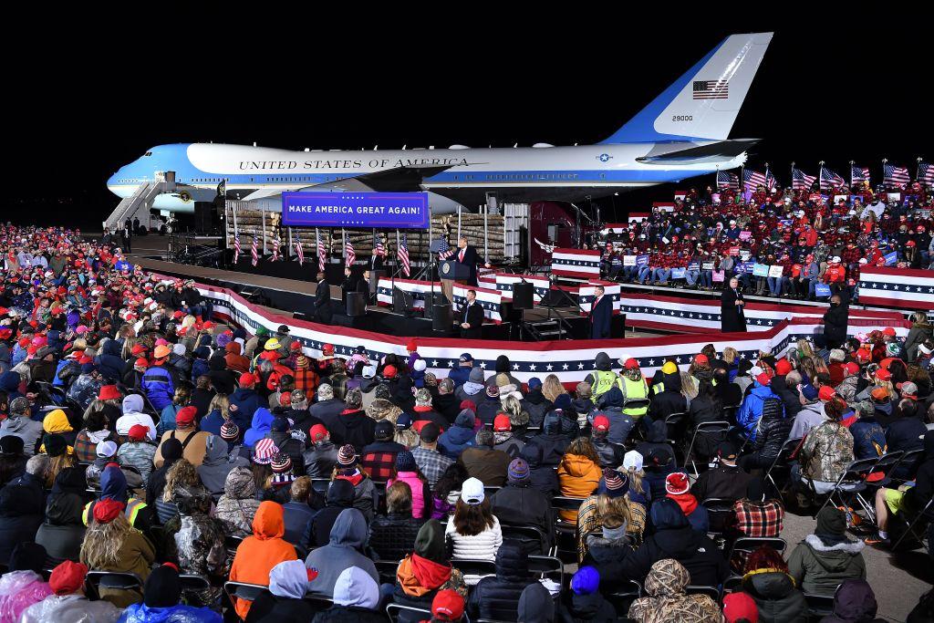 圖為特朗普總統在9月30日的競選造勢活動。(MANDEL NGAN/AFP via Getty Images)