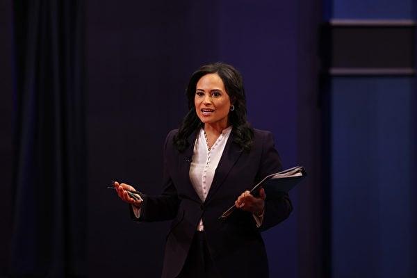 NBC新聞白宮記者克里斯汀‧韋爾克(Kristen Welker)主持這場辯論。(Justin Sullivan/Getty Images)