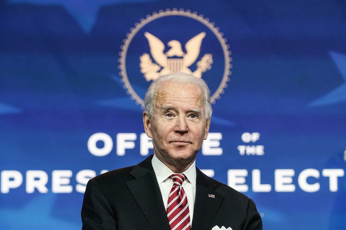 圖為美國當選總統拜登資料照。(Joshua Roberts/Getty Images)