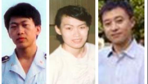 (從左至右)胡志明,碩士,在北京空軍軍訓器材研究所工作,少校軍銜,兩次被冤判共8年;李敏,碩士,《電子愛好雜誌》副總編,遭綁架,被冤判3年;卜東偉,碩士畢業,曾任美國亞洲基金會北京辦事處職員,曾被非法關押在北京看守所和勞教所。(大紀元合成圖)