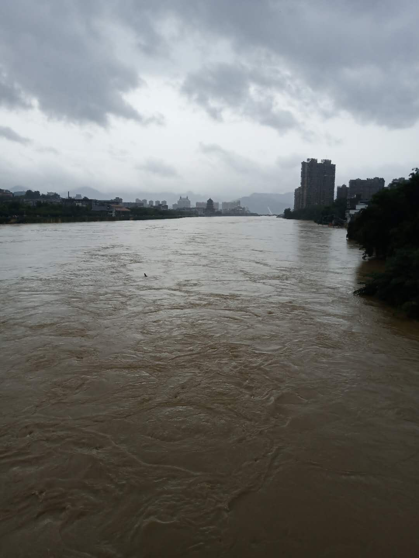 江西景德鎮城區的大水。(受訪者提供).