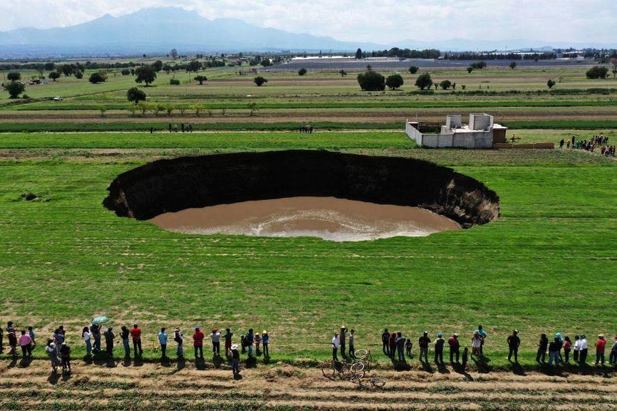 墨西哥驚現巨大天坑 日增幾十米 恐吞附近房屋
