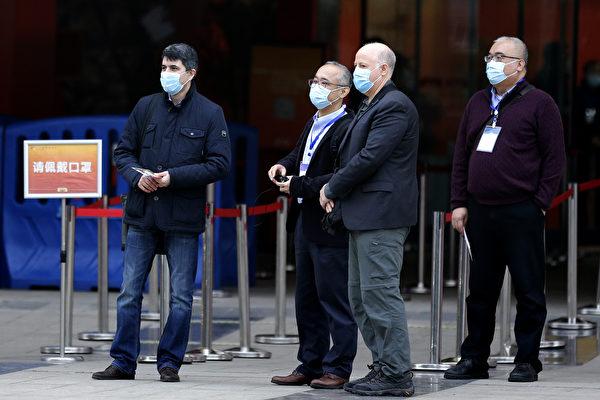 2021年1月30日,世界衛生組織(WHO)調查團在中國湖北省武漢市。(Getty Images)