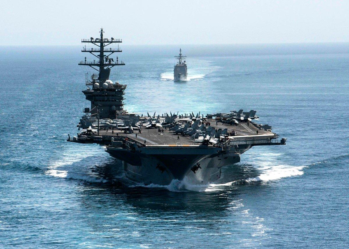 美國國防部發言人約翰·科比(John Kirby)2月2日宣佈,防長勞埃德·奧斯丁(Lloyd Austin)已下令海軍尼米茲號(USS Nimitz)航母戰鬥群即將離開中央司令部負責區域,進入印度太平洋地區。(Photo by elliot Schaudt / US NAVY / AFP)