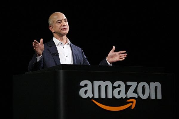 亞馬遜公司的創辦人傑夫‧貝佐斯 (Jeff Bezos)。(David McNew/Getty Images)