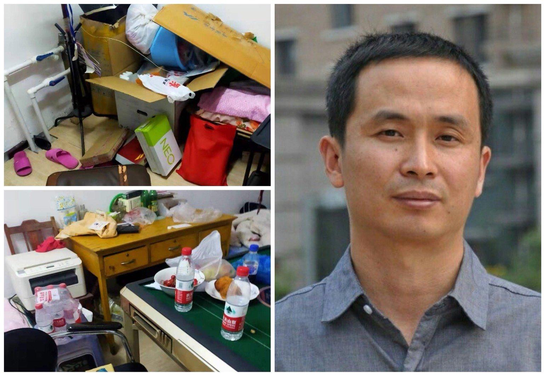 北京謝燕益律師因介入郭宏偉死亡案,遭吉林四平警方綁架。(受訪者提供/大紀元合成)