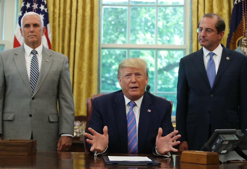 中美貿易戰8月23日再次升級。特朗普能否援引一項1977年法律,讓美企撤出中國引發關注。(Mark Wilson/Getty Images)