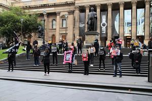 墨爾本抗議《港版國安法》 籲澳保護港生