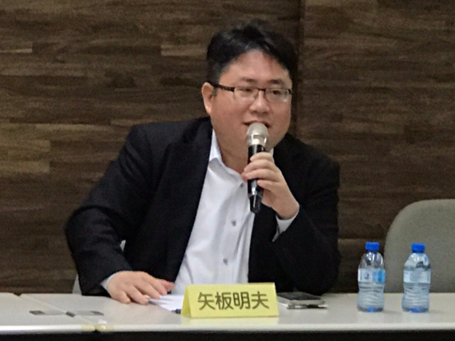 2020年12月12日,中國問題專家矢板明夫表示,特朗普當選對,對日本、台灣與整個亞洲有很大好處。(李怡欣/大紀元)