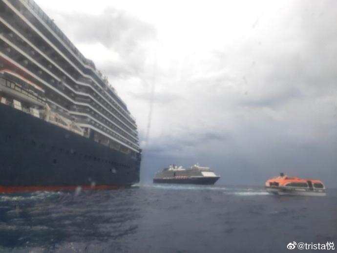 因為得不到中國政府的批准,大批中國船員被迫長達數月滯留在海外的郵輪上,情況不斷惡化。(微博圖片)