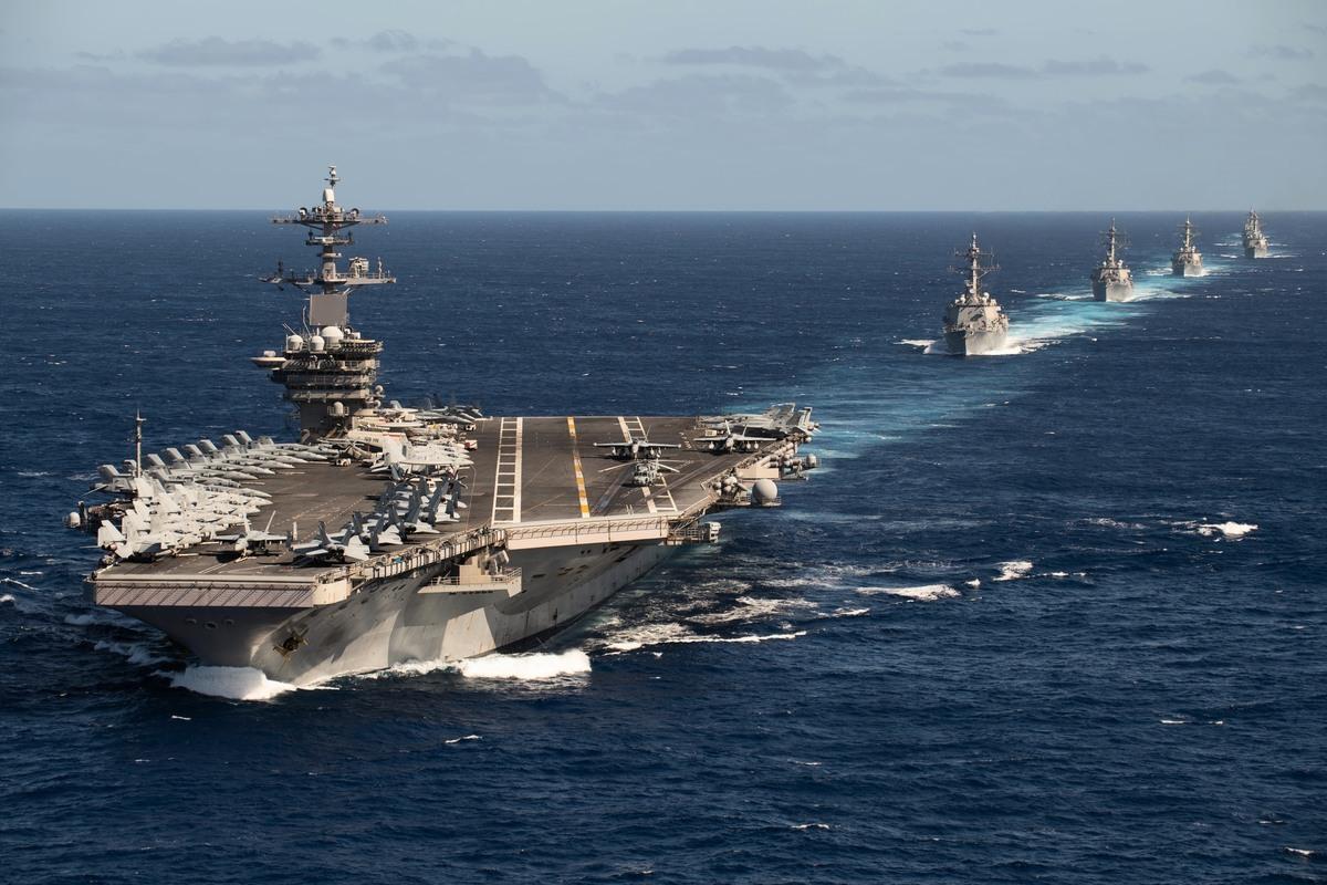 2020年1月25日,羅斯福號航母艦隊部署到西太平洋。(美國海軍)