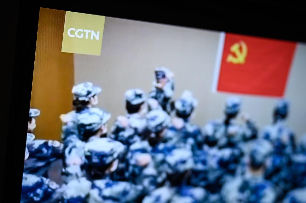 英國和德國近期相繼停播中共官媒環球電視網(CGTN),德國國會議員認為做得對。(Leon Neal/Getty Images)