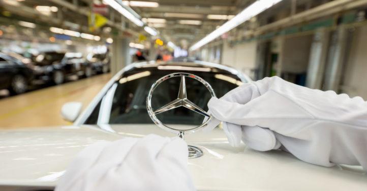 近日德國戴姆勒公司宣佈,在全球範圍內召回近30萬輛柴油車,僅德國就涉及10萬輛。 (Thomas Niedermueller/Getty Images)