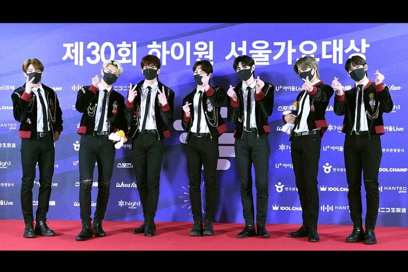 南韓男團ENHYPEN出席第30屆High1 Seoul Music Awards資料照。(The Sports Seoul via Getty Images)