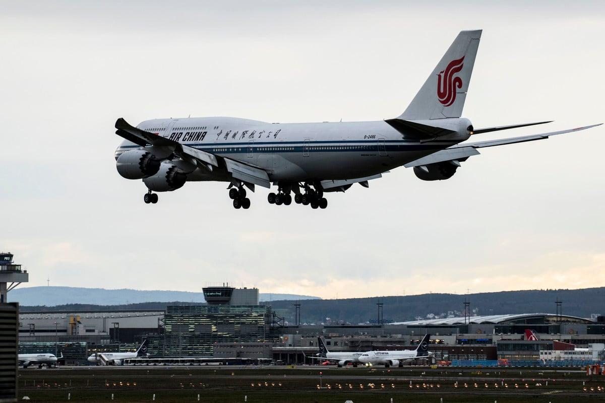 圖為一架中國國航班機。(Thomas Lohnes/Getty Images)