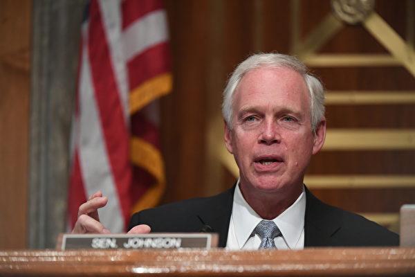 圖為美國參議院國土安全和政府事務委員會主席、威斯康辛州的參議員、共和黨人羅恩‧約翰遜(Ron Johnson)。(Toni Sandys-Pool/Getty Images)