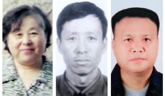 (從左至右)黑龍江哈爾濱72歲的孟紅、黑龍江佳木斯61歲的楊勝軍、湖北省荊州市監利縣67歲的李大堯因修煉法輪功被中共非法關押並迫害致死。(大紀元合成圖)