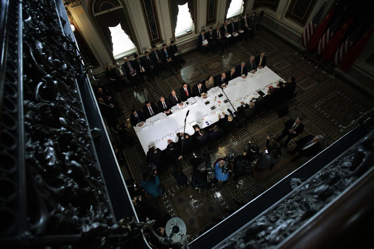 中共上周五給美國發的一份電報激怒特朗普政府。(GREG BAKER/AFP/Getty Images)