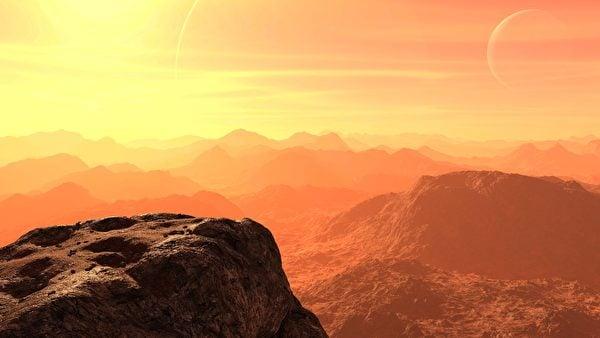這是火星地表的示意圖。(Pixabay)