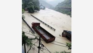 貴州一村莊被淹沒 洪水深達10餘米
