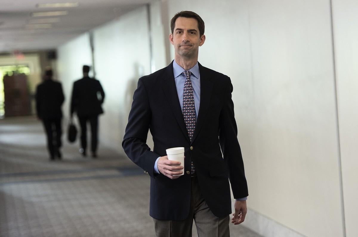 美國阿肯色州共和黨參議員湯姆•科頓(Tom Cotton)。(SAUL LOEB/AFP)。(SAUL LOEB/AFP)