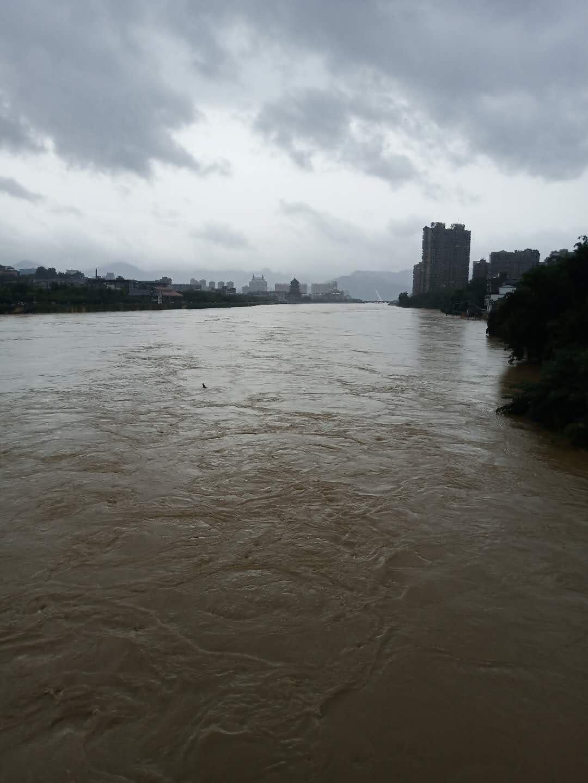 江西景德鎮城區的大水。(受訪者提供)