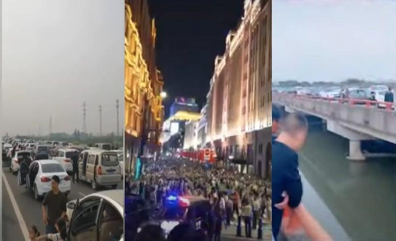 【影片】上海外灘人擠人 網友擔心感染