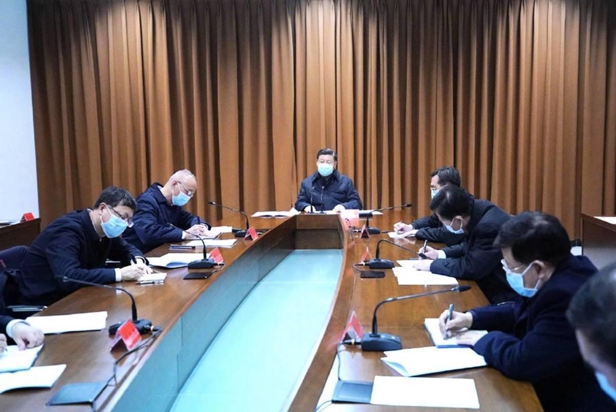 2月10日,習近平聽取北京疫情防控工作匯報。(微博@新華視點)