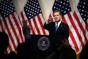 FBI局長:中美體制不同 需警惕中共威脅