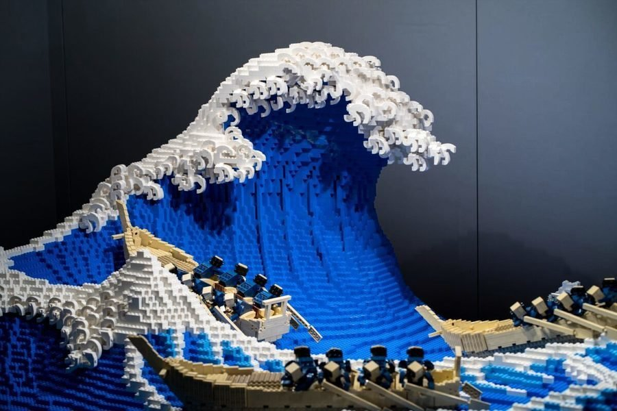 立體視覺 日本藝術家用五萬塊樂高還原名畫