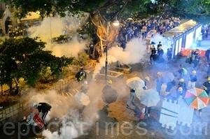 【8.3反送中組圖3】尖沙咀警民對峙 催淚彈強制清場