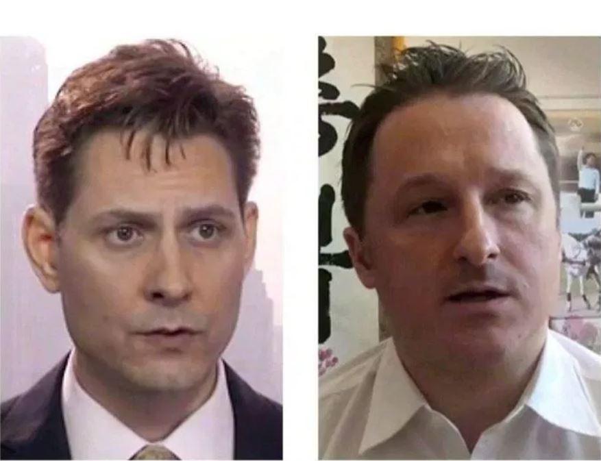 中共當局拘捕加拿大人康明凱(左)和史派沃(右)被普遍認為是對加拿大的報復行為。(加通社)