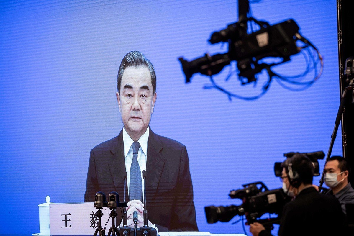 中共外交部長王毅。(NICOLAS ASFOURI/AFP via Getty Images)