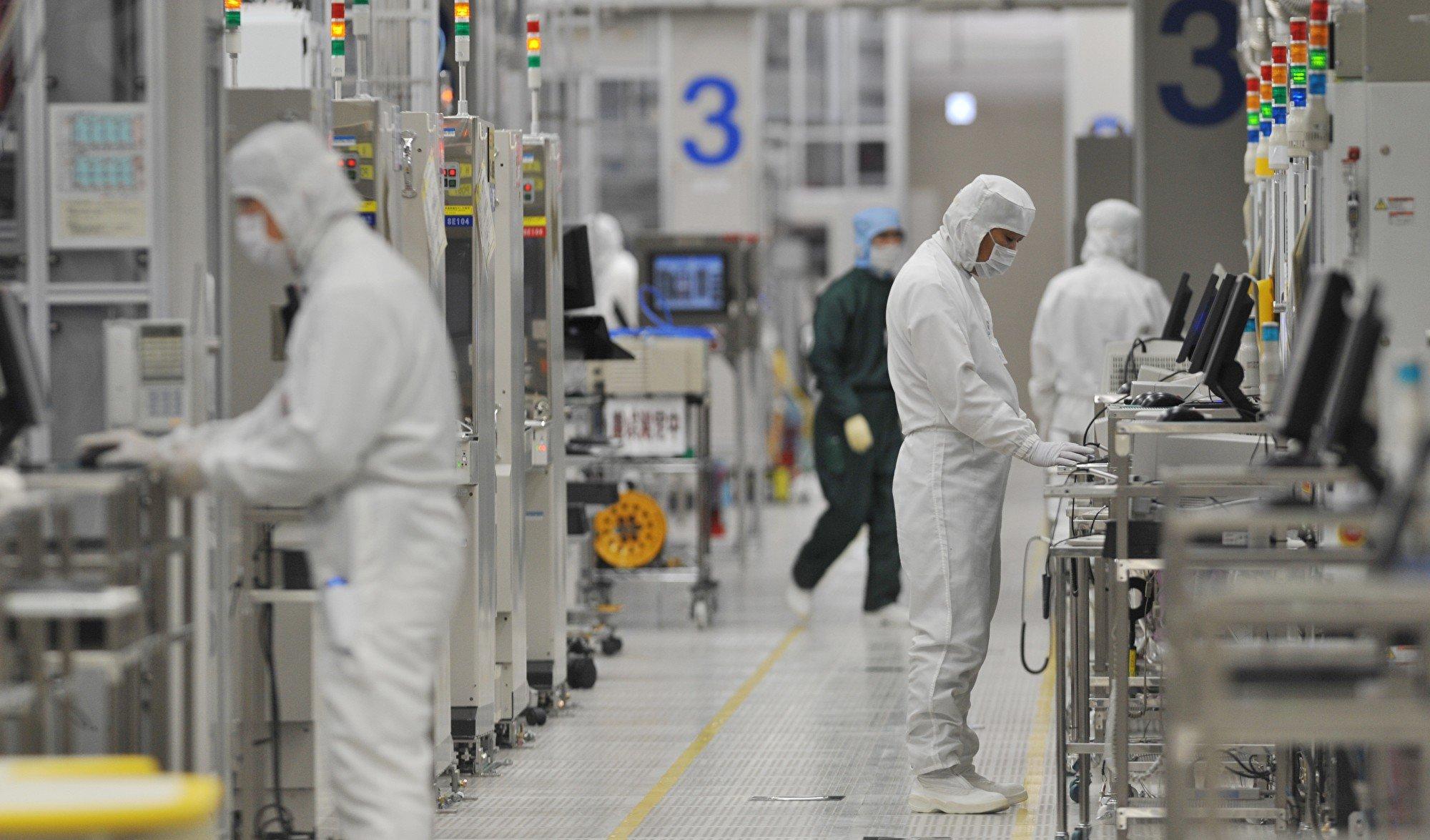 中共領導層稱該國半導體行業可以「自給自足」,不需要依賴美國供應商,然而中國業內人士並不這麼認為。圖為示意圖。( KAZUHIRO NOGI/AFP/Getty Images)
