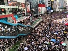 【7.21反送中組圖1】遊行人潮擠爆港島