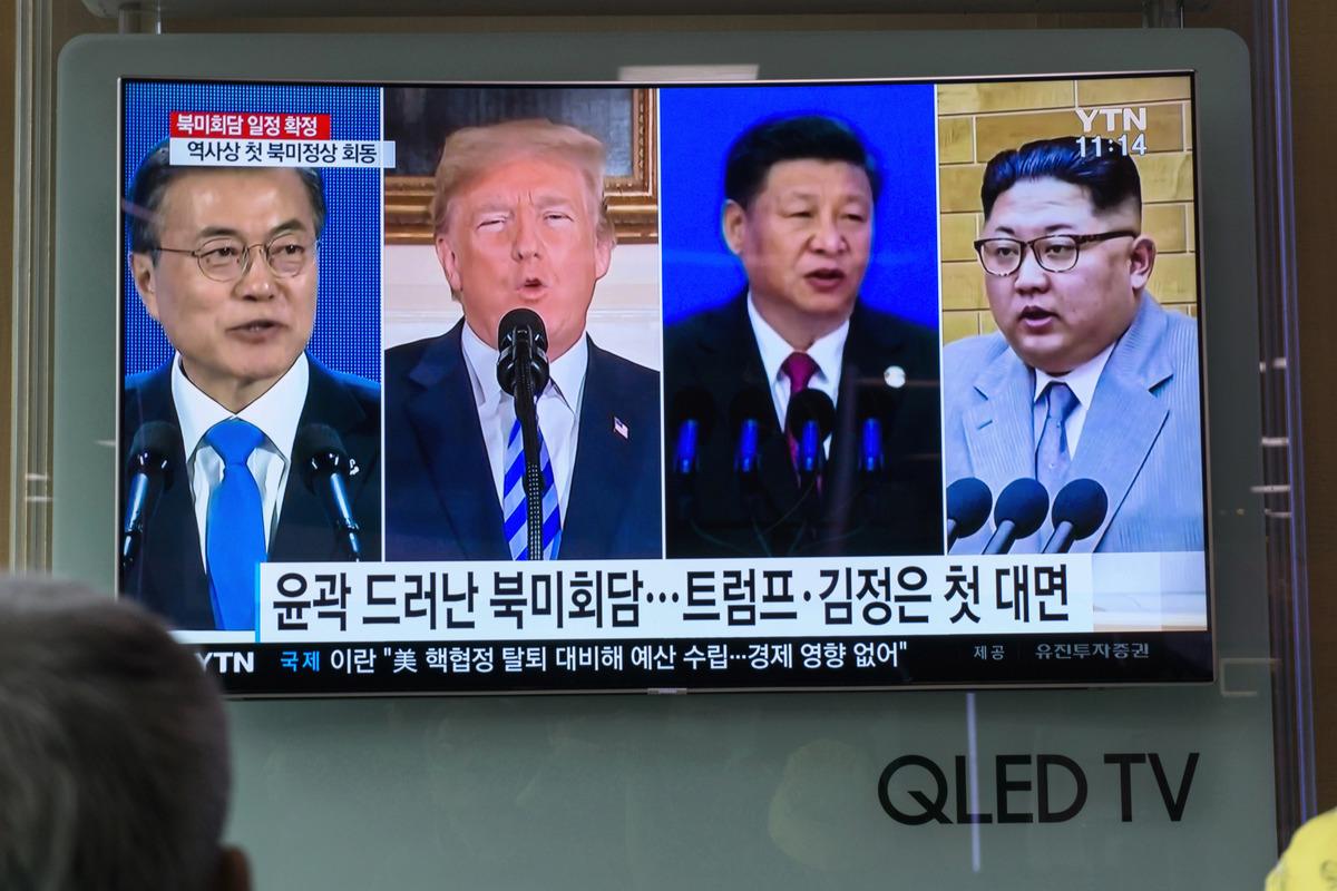 北韓近日與北京互動密切,外界關注中美朝三方間的談判是否會出現變數。(KIM SUE-HAN/AFP/Getty Images)