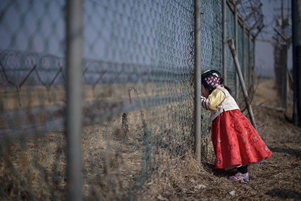 圖為北韓邊境示意圖。(Photo credit should read ED JONES/AFP/Getty Images)