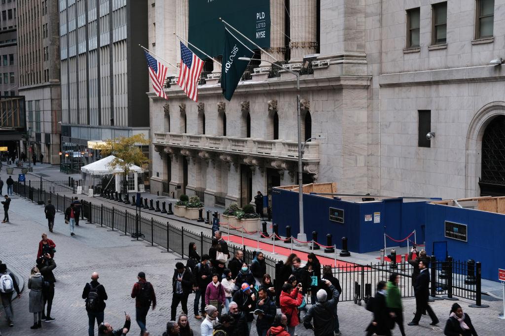 圖為2019年11月4日的紐約證券交易所。(Spencer Platt/Getty Images)