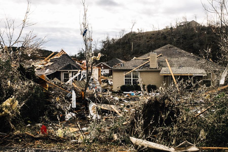 龍捲風橫掃阿拉巴馬州 致5死數十傷 房屋被毀