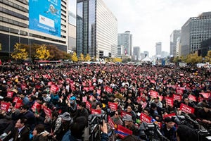 百萬民眾促總統下台 韓本世紀最大規模示威