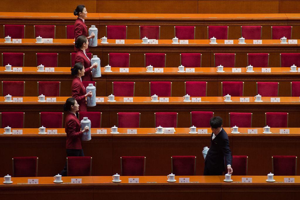 中共3月15日匆忙通過《外商投資法》,但外商仍擔憂,這項法律只是種意圖,而非一套具體的強制性法規;且即使有法,也仍可能被任意解讀。(NICOLAS ASFOURI/AFP/Getty Images)