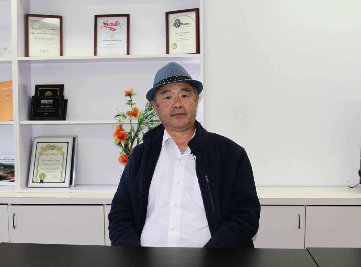 大陸維權律師夏鈞揭露了大陸司法部門的違法內幕。(姜琳達/大紀元)