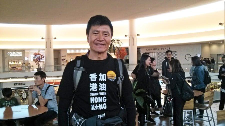 參加溫哥華撐港活動 89運動學生周鋒鎖落淚
