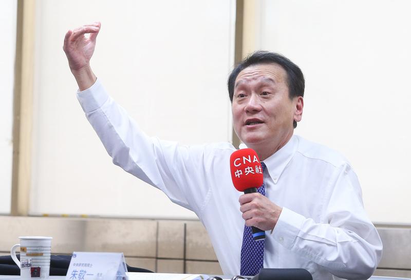 台灣中央研究院院士朱敬一。(中央社)