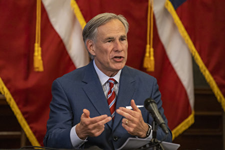 德州州長格雷格·阿伯特(Greg Abbott)資料照。(Lynda M. Gonzalez-Pool/Getty Images)
