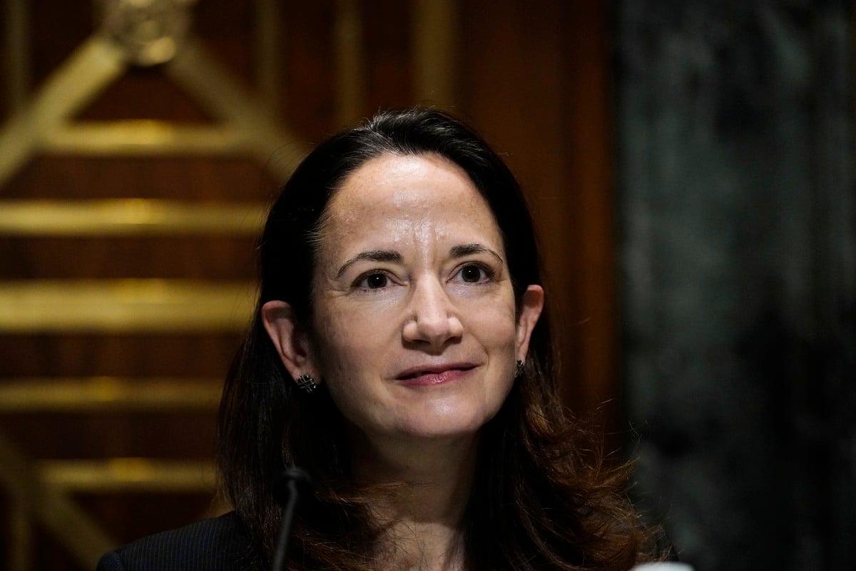 圖為美國國家情報總監海因斯(Avril Haines)2021年1月出席國會的提名聽證。(Melina Mara/POOL/AFP)