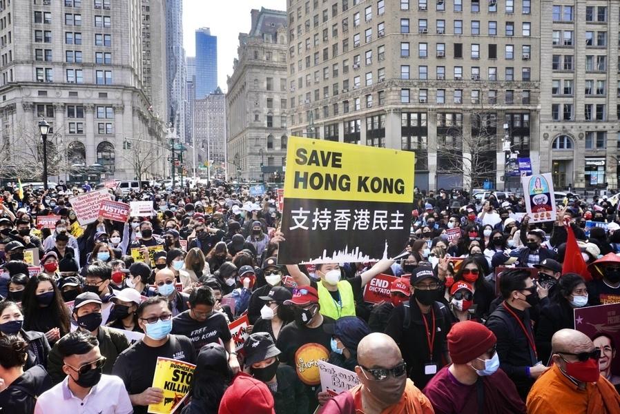「奶茶聯盟」紐約遊行 關注亞洲人權