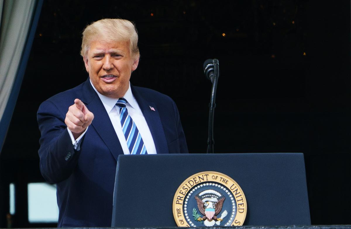 美國總統特朗普在接受CBS新聞採訪時表示,美國最大的敵手是中共。圖為美國總統特朗普。(MANDEL NGAN/AFP)